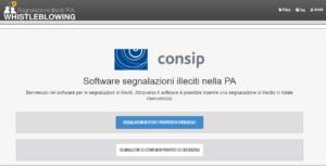 Anteprima della piattaforma whistleblowing di Consip